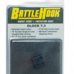 The Battlehook made by Henning Walgren, a great rear sight for one-handed manipulation.