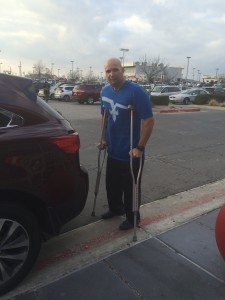The unhappy me.  I was bummed to be 43 years old, and limited to almost no movement for months due to a total hip replacement.   The good news....I have to have the other one replaced too.  My wake up call would be to focus on what I could do versus couldn't do.